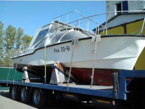 Перевозка моторных лодок