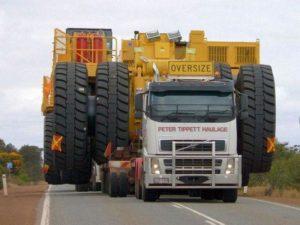 Перевозка негабаритного транспорта