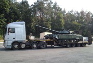 Перевозка и погрузка танков на трале