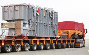 Перевозка трансформатора на трале в Москве