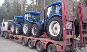 Перевозка гусеничных и колесных тракторов на трале