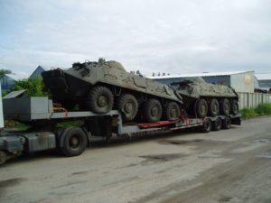 Перевозка и погрузка военной техники и грузов на трале